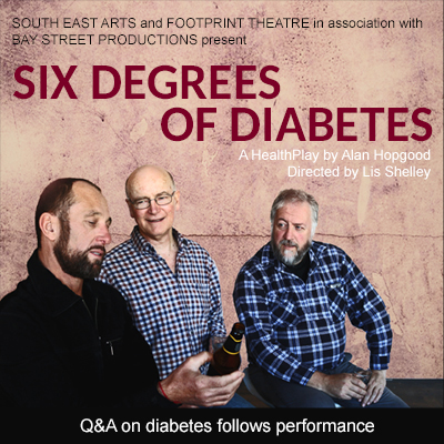 Six Degrees of Diabetes directed by Lis Shelley (Actors Mark Wheatley, Dennis Stanton, Karl Auer) written by Alan Hopgood
